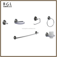 Fancy Decorative Zinc Alloy And Crystal Polished Chrome Bathroom Fixtures And Accessories Wall Mounted Bath Accessory Set