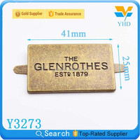 famous company brand luggage logo engraved tag charm design