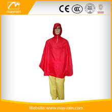 Foldable bag with high quality lightweight polyester poncho