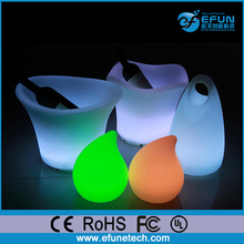 led ice bucket party cooler, ice cooler for bar,plastic led decorative wine bottle holders