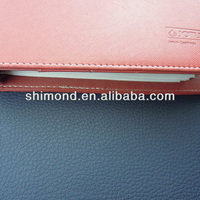 PU material lichee grain surfce design leather book cover