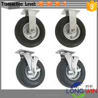 mobile adjustable scaffold caster wheel with brake