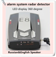2015 Spanish/ Russian/English Voice 360 degree anti radar speed gun velocidad wholesale detector de radar E8