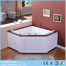 Indoor triangle shaped medical massage bathtubs with touch screen controller