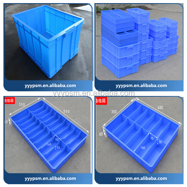 Plastic injection mould/OEM Custom plastic Crate mould/Custom design storage Turnover Box Mold