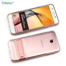 Factory price for Samsung Galaxy J7 Prime Combo back cover case with kickstand Armor case cell phone case
