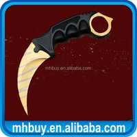 Karambit Knife Combat Blade Claw Neck Sheath Tiger Tooth fixed blade knife New