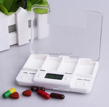 2017 new design wholesale digital 4 alarm pill box with timer