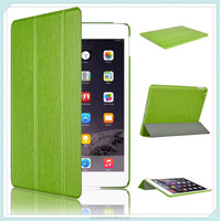 PU Leather Smart Cover Case for iPad Air 2 (2014 Released) With Magnetic Auto Wake & Sleep Function - Green