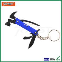 Anodized Gift Steel Mini Multifunction Claw Hammer with Key Chain