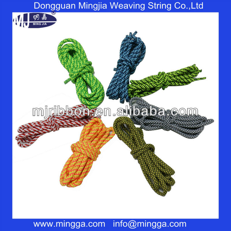 wholesale polyester custom printed rope laces