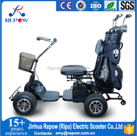 4 wheel electric golf cart with single seat RPD413G-1 CE 600W 24V OEM private brand China manufacturer for electric golf cart