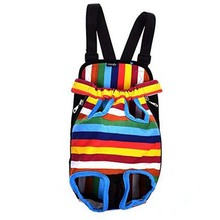Personalized Colorful Strip Pattern Best Dog Carrier Backpack