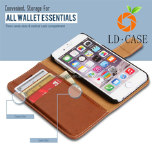 Wallet PU Leather Flip Case Mobile Phone Back Cover Skin Card Slots Holder for iphone 7
