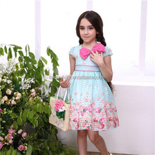 The new female baby princess girl princess wedding bridesmaid dresses for children aged 2-7