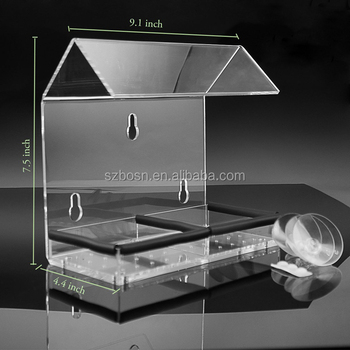 Wholesale Acrylic Window Bird Feeder