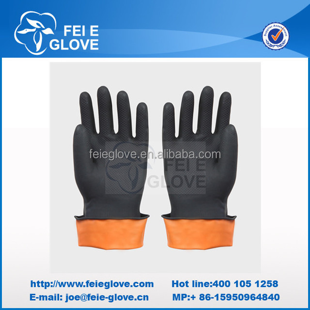 cheap industrial working gloves oil gas resistant glove
