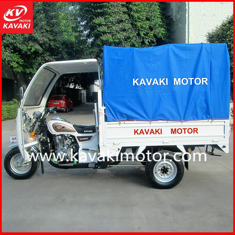 2015 Chinese Manufacturer Popular Three wheel motorcycle Cargo gas tricycle 150, 200, 250cc cargo and passenger trike with cheap