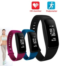 Wholesale men's sport fitness tracker pedometer wristbands with heart rate and blood pressure