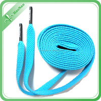 Flat polyester custom design shoelace for running sport shoes