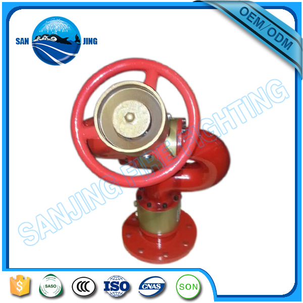 China manufacturer water power PS50 manual fire monitor