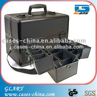 Hair stylist barber aluminum mobile tool accessory storage tote case lockable