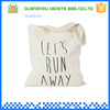Promotional beach white simple women blank canvas tote bag
