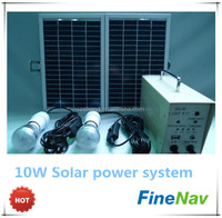 3W LED light bulb 10W solar panel mini solar electricity generating system for home lighting and mobile charger