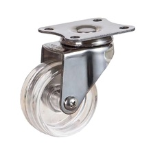 40mm 50mm PC Transparent Wheel Stainless Steel Castors Wheels For Furniture