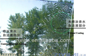 Nano self cleaning Coating for building curtain wall