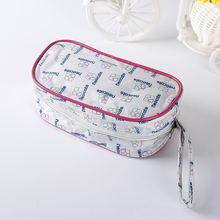 Manufactory wholesale red satin cosmetic bag made in guangdong