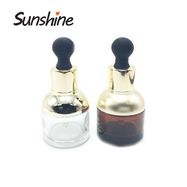 30ml clear and amber Glass E Liquid Dropper Oil Bottle with professional service
