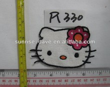 hello kitty animal embroidery patches for kid's clothing