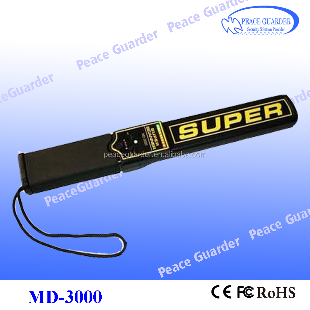 Automatic Tuning Gold factory Hand held metal detector with rechargeable battery MD-3000