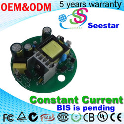 Round Shape Constant Current LED Driver 35W 980mA 28-40V DC output CE approval