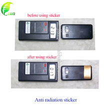 gold metal anti radiation sticker for mobile phone and laptop