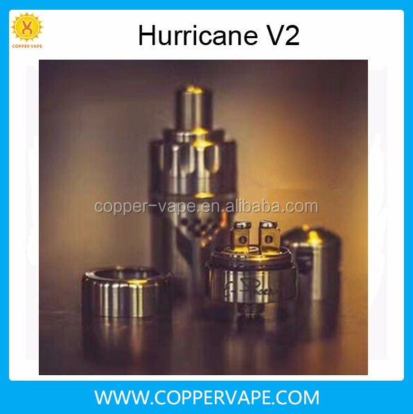Coppervape hurricane v2 Top filling Airflow up to 25mm 2.5ml Hurricane v2 clone great flavor