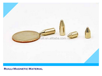 Customized pure strong bullet shaped neodymium magnet