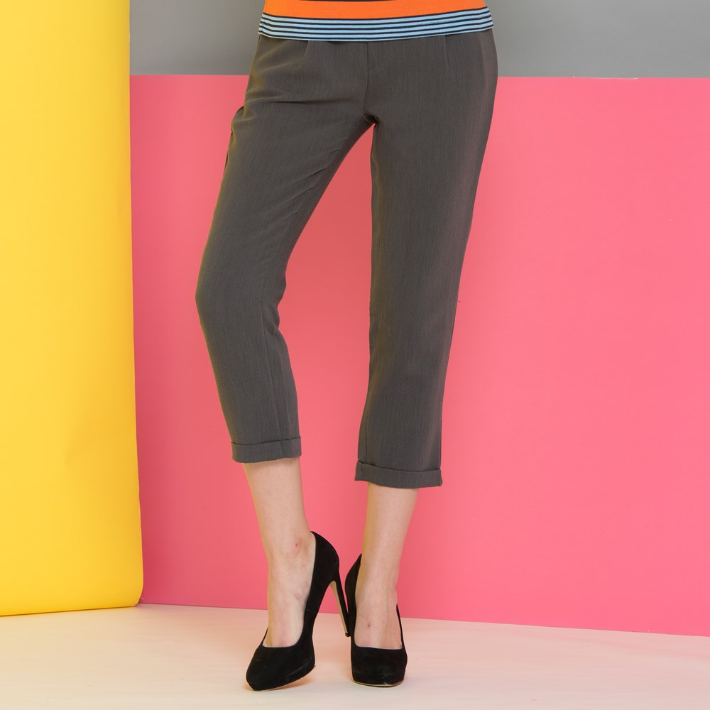 Fashionable manufacturers Comfortable Womens pure color Polyester Plain taiwan Pants