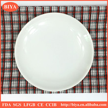 mini hot plate cheap porcelain dish or plate for seasoning oil juice or soy sauce, small round ceramic dish or plate