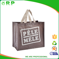 High quality customized eco foldable recycled custom shopping bag woven