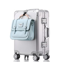 Factory direct wholesale 360 spinner wheels Magnesium aluminium alloy luggage 20 24 28inch suitcase Duffel bag
