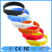 Best price silicone bracelet usb flash drive form 2gb to 64gb with logo print