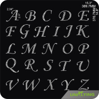 Wholesale A-Z Crystal Alphabet Letters Rhinestone Transfer Designs