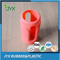 Custom heat resistant silicone water bottle cover