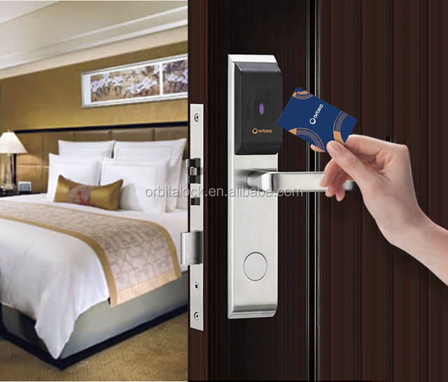 Orbita rfid card security handle safe electronic hotel smart keyless korea digital door lock access system