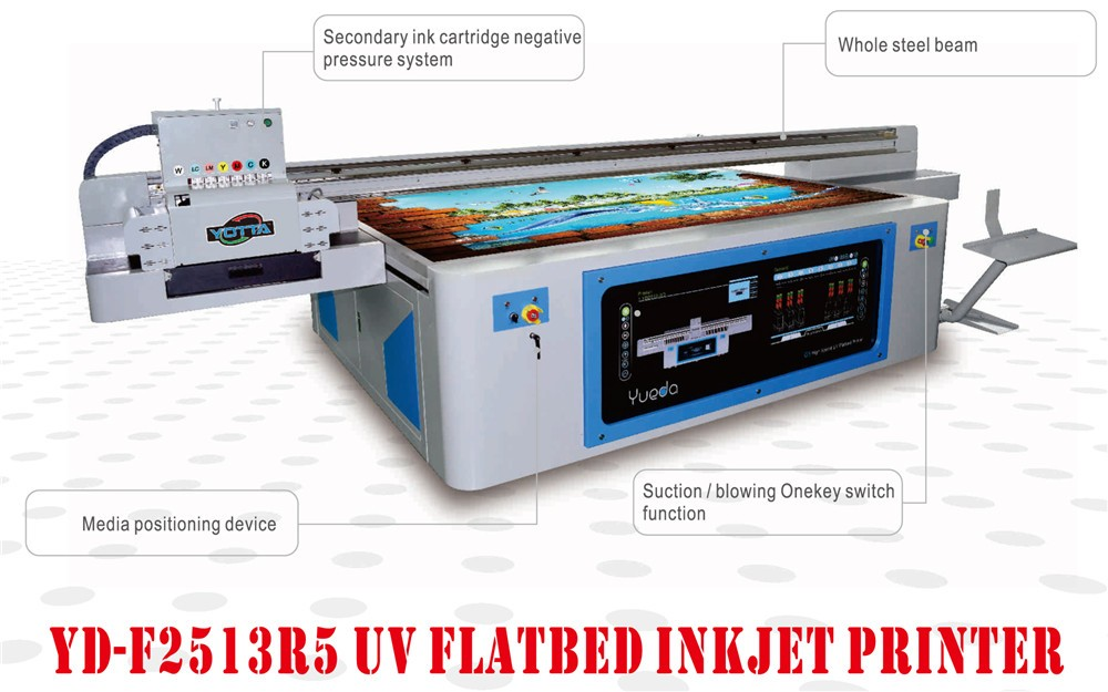 High speed UV Led printer flatbed 3D glass printer digital printing machine