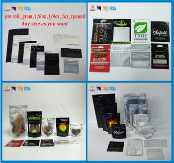 Custom printed smell proof black mylar bag ziplock foil bags cannibis packaging wholesale