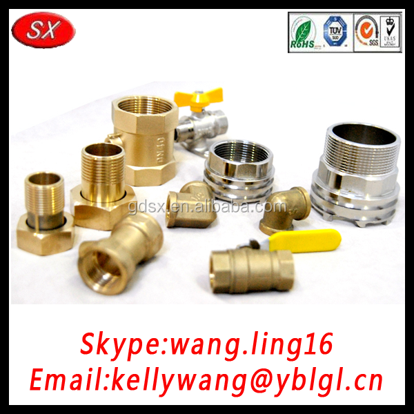 Brass fittings for pipe cnc machining stainless steel