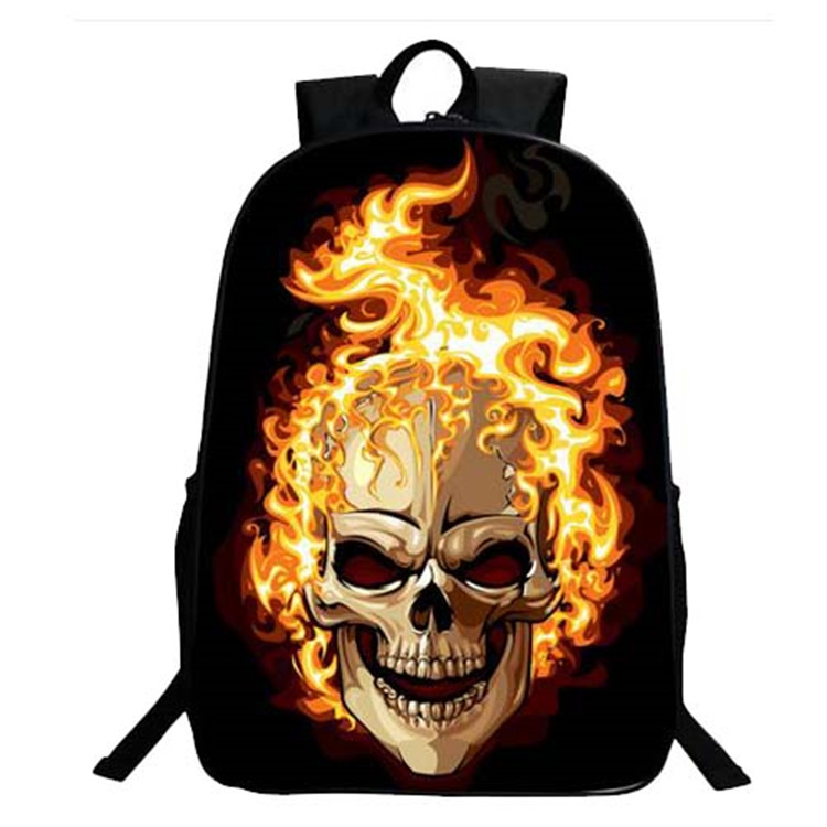 High Quality 3D Skull Backpacks School Bag for College Students
